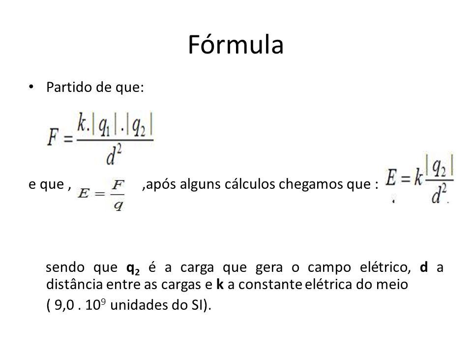 Fórmula Partido de que: e que , ,após alguns cálculos chegamos que :