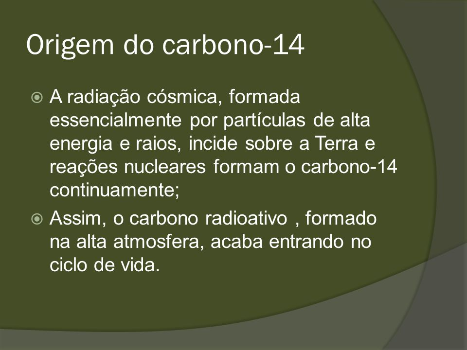Origem do carbono-14
