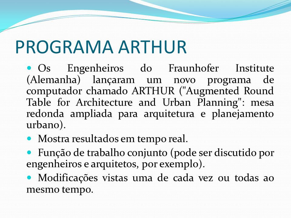 PROGRAMA ARTHUR