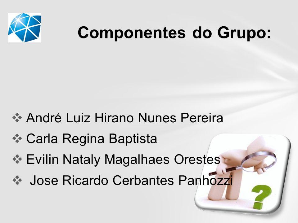 Componentes do Grupo: André Luiz Hirano Nunes Pereira
