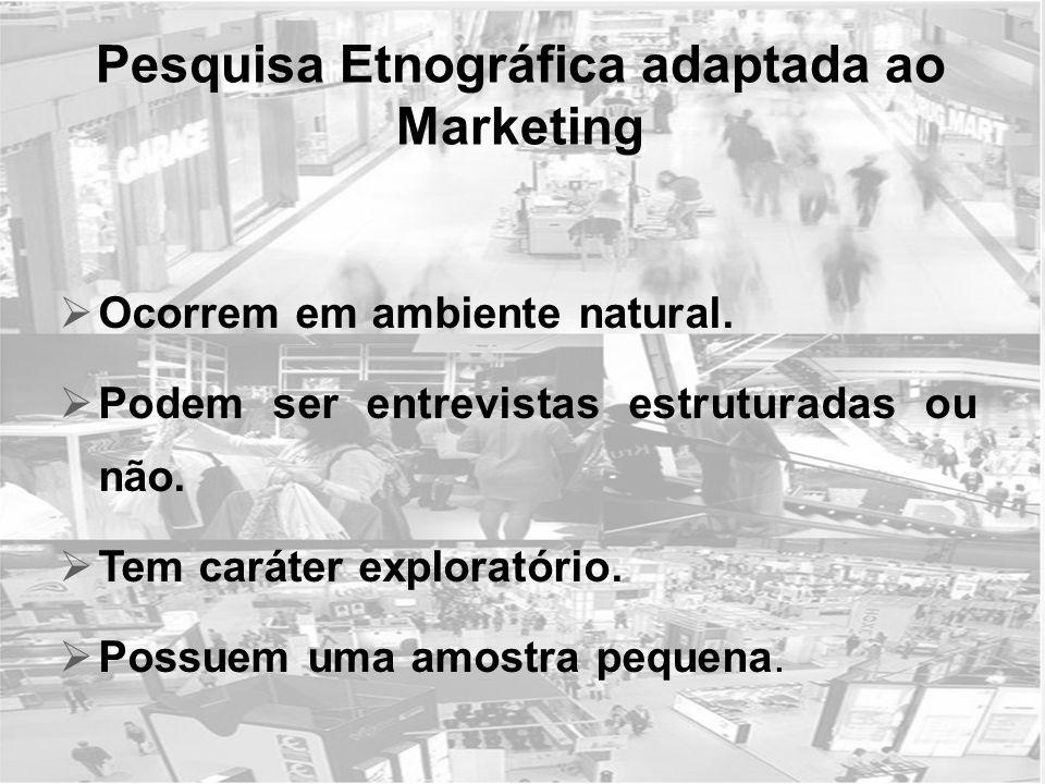 Pesquisa Etnográfica adaptada ao Marketing