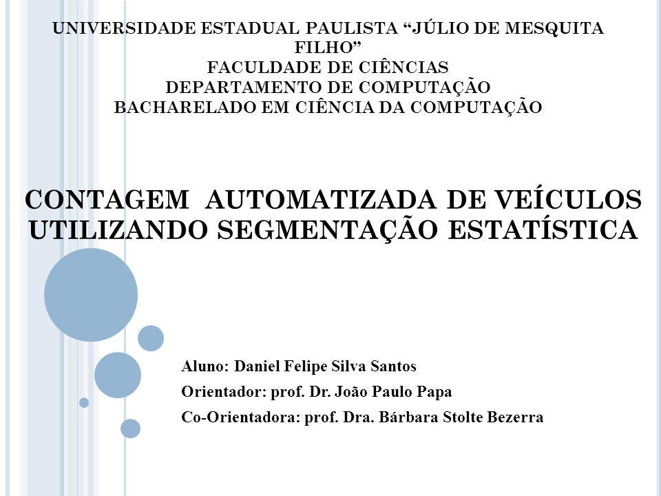 Contagem automatizada de veículos utilizando segmentação estatística