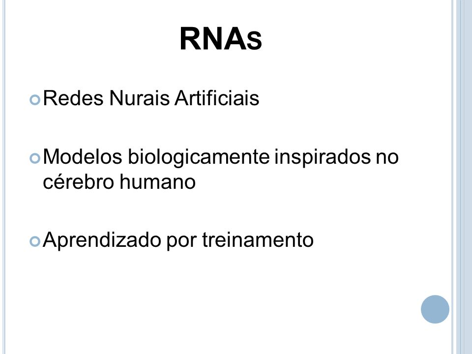 RNAs Redes Nurais Artificiais