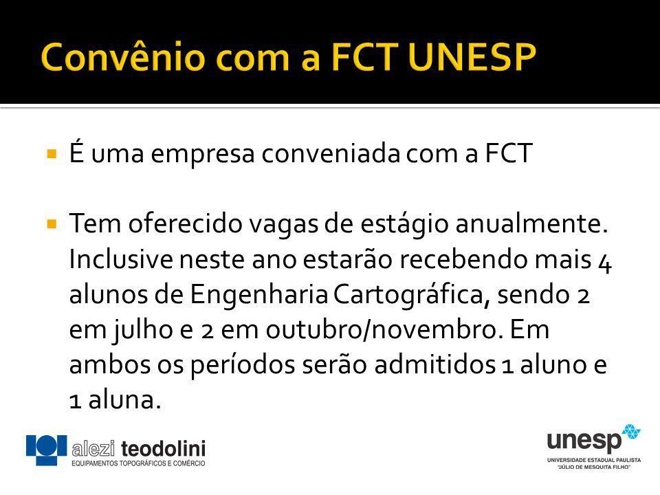 Convênio com a FCT UNESP