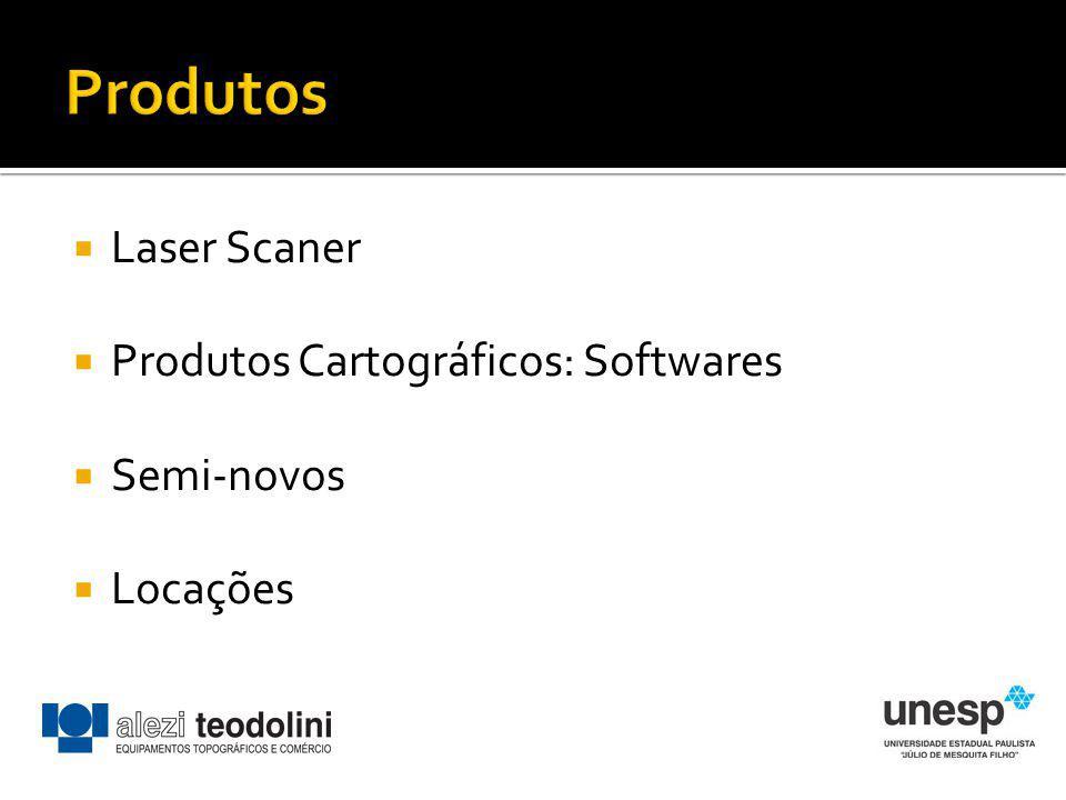 Produtos Laser Scaner Produtos Cartográficos: Softwares Semi-novos