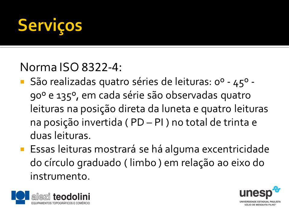 Serviços Norma ISO 8322-4: