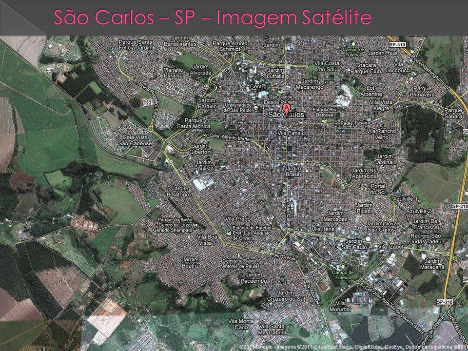 São Carlos – SP – Imagem Satélite