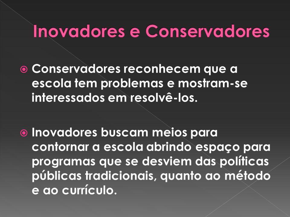 Inovadores e Conservadores