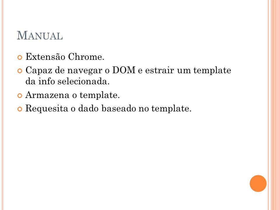 Manual Extensão Chrome.