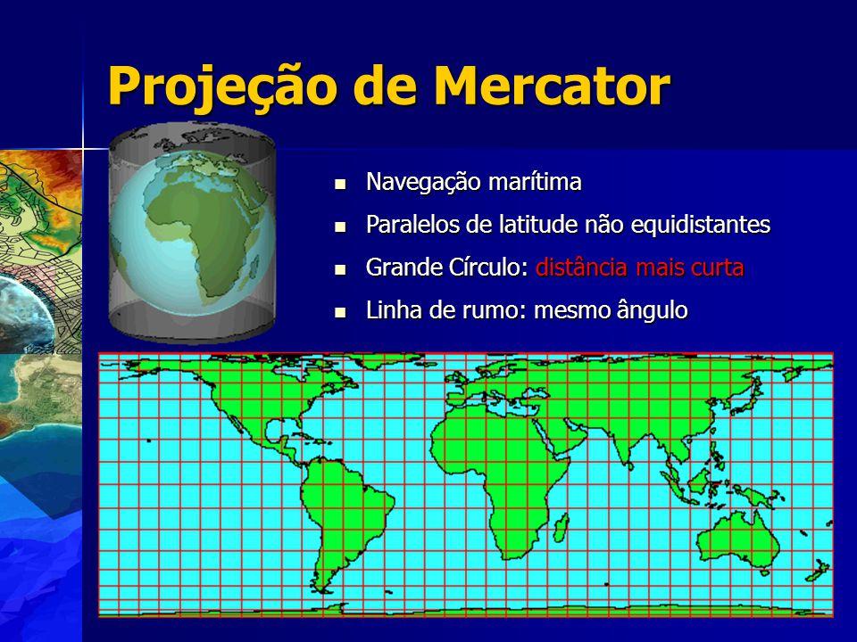 Projeção de Mercator Navegação marítima