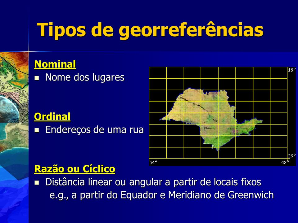Tipos de georreferências