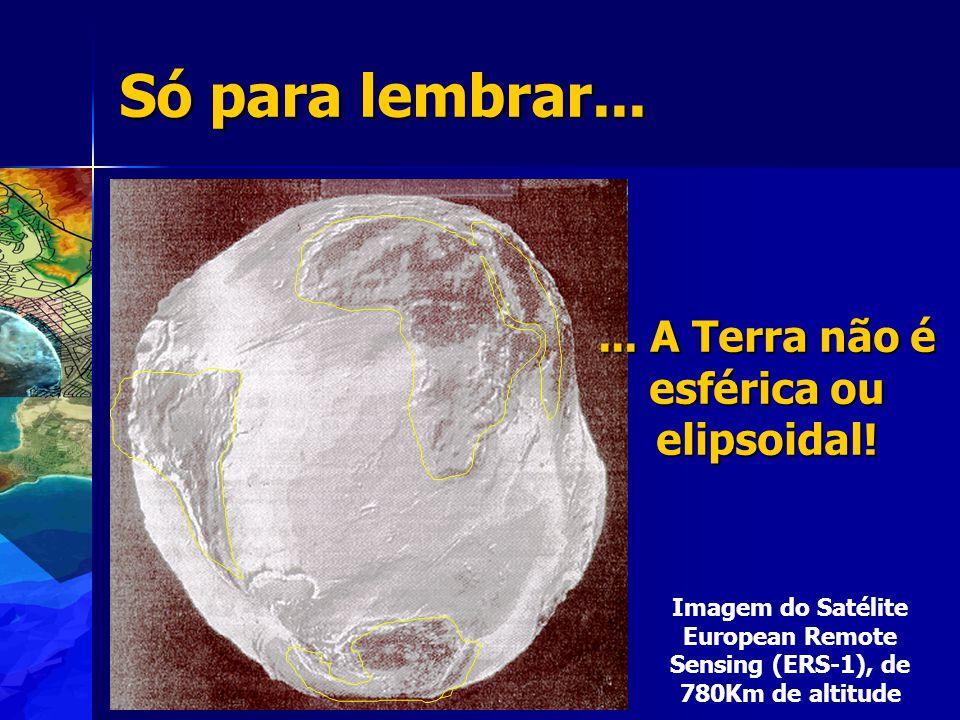 ... A Terra não é esférica ou elipsoidal!
