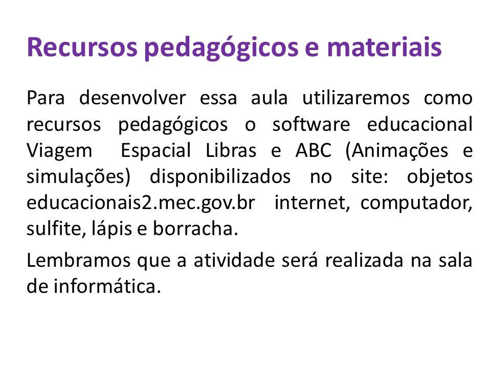Recursos pedagógicos e materiais