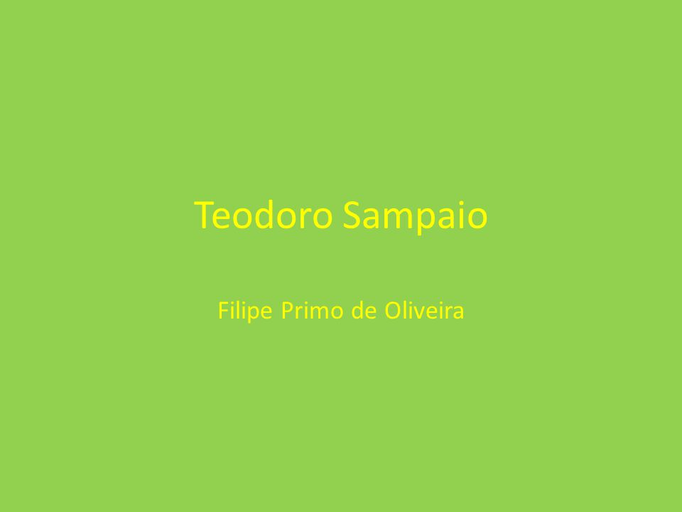 Filipe Primo de Oliveira