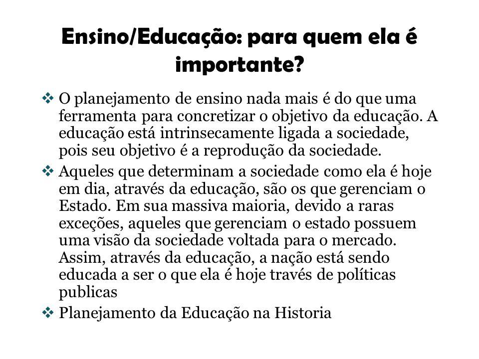 Ensino/Educação: para quem ela é importante