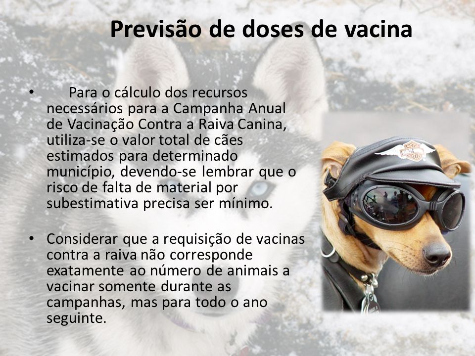 Previsão de doses de vacina