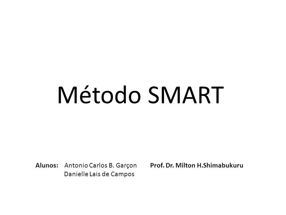 Método SMART Alunos: Antonio Carlos B. Garçon