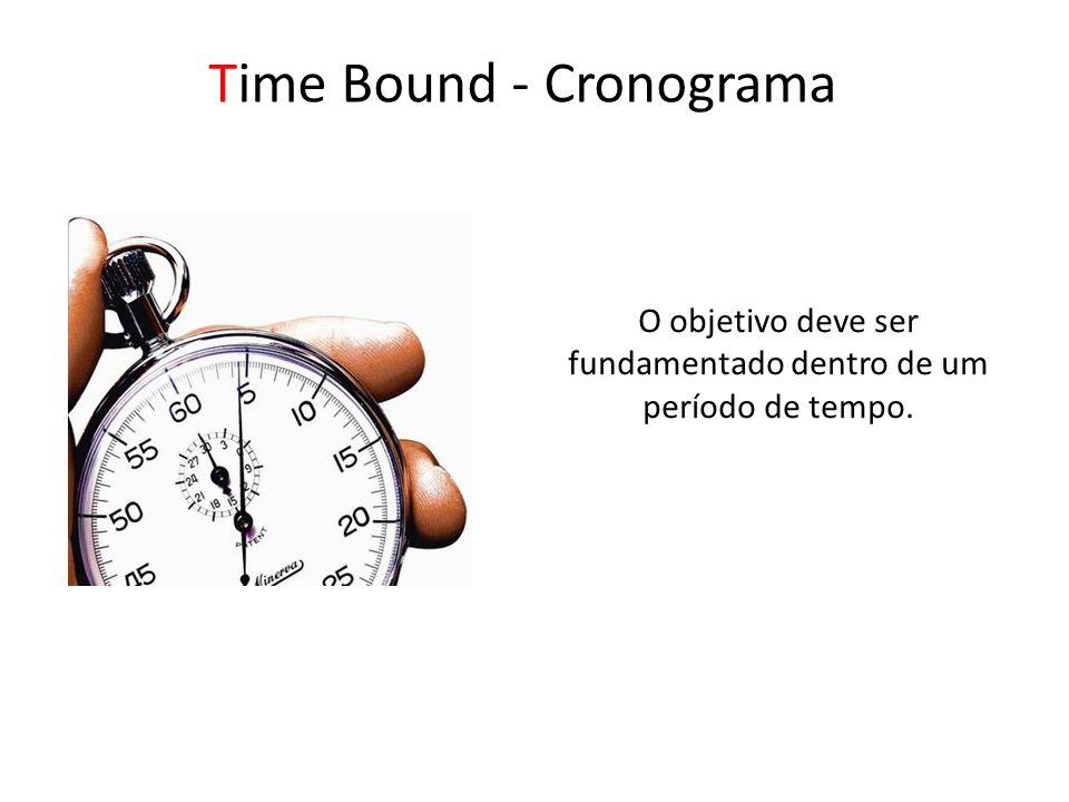 O objetivo deve ser fundamentado dentro de um período de tempo.