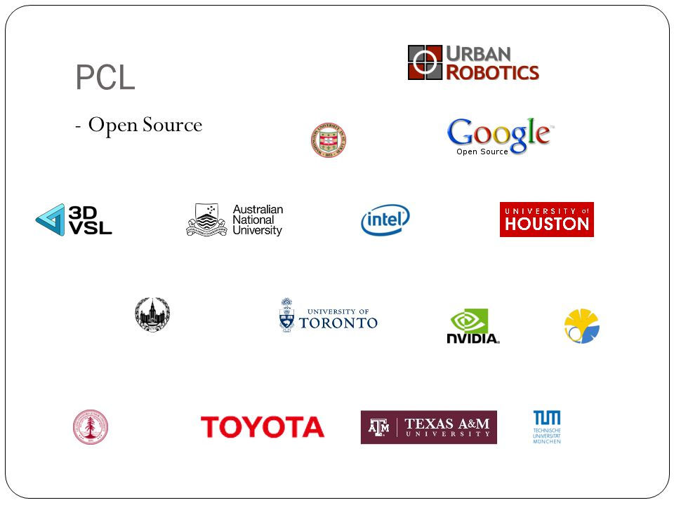 PCL - Open Source