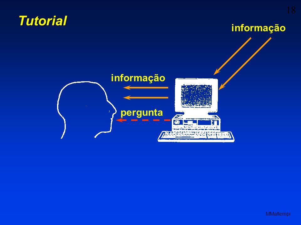 Tutorial informação informação pergunta