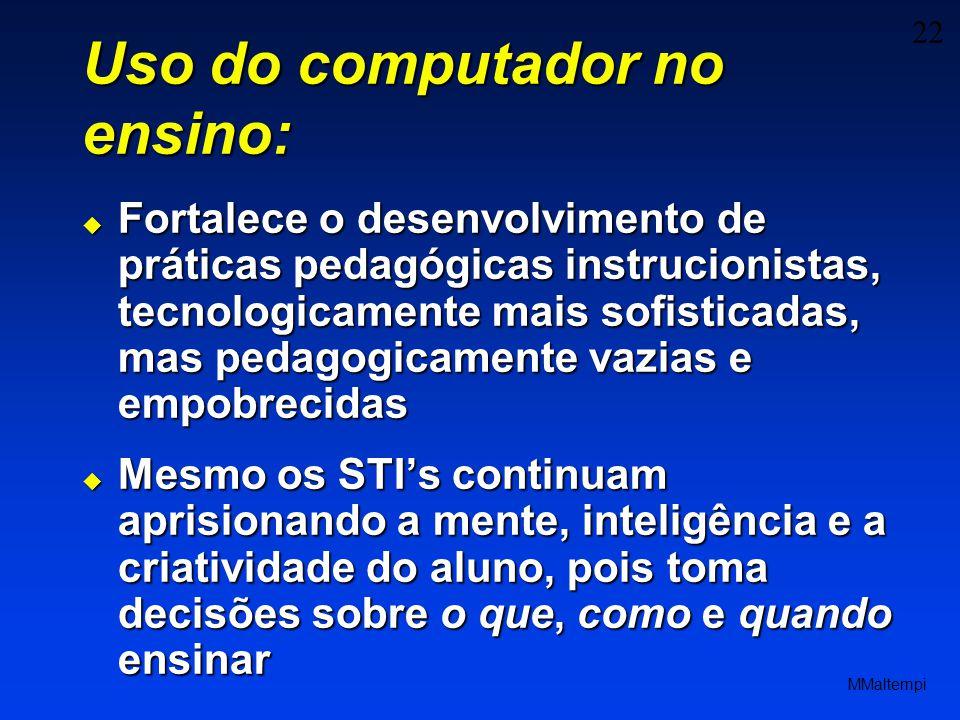 Uso do computador no ensino: