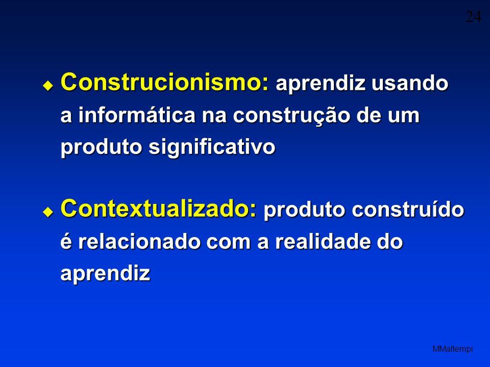 Construcionismo: aprendiz usando a informática na construção de um produto significativo