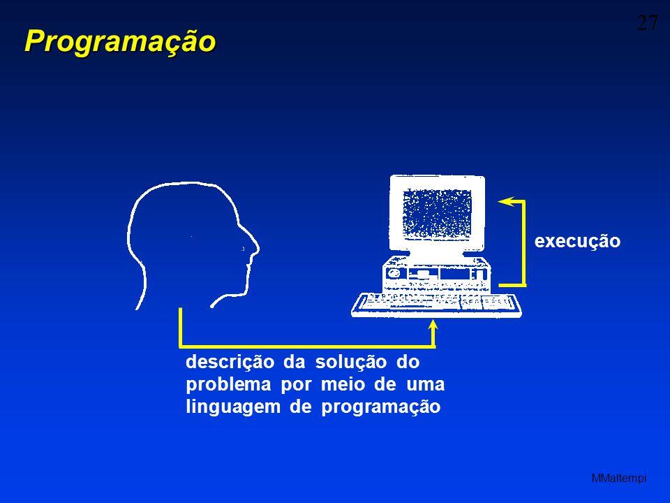 Programação execução.