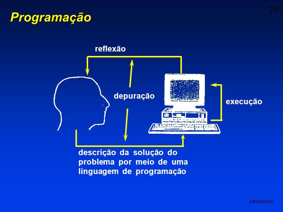 Programação reflexão depuração execução