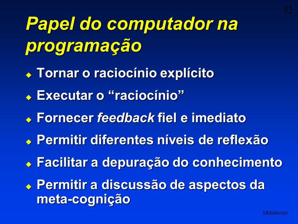 Papel do computador na programação