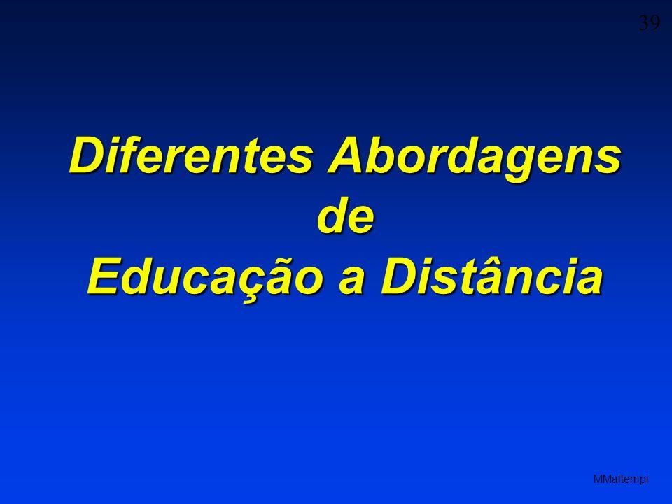 Diferentes Abordagens de Educação a Distância