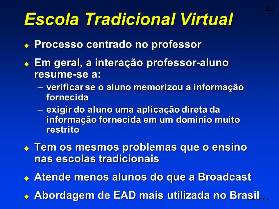 Escola Tradicional Virtual