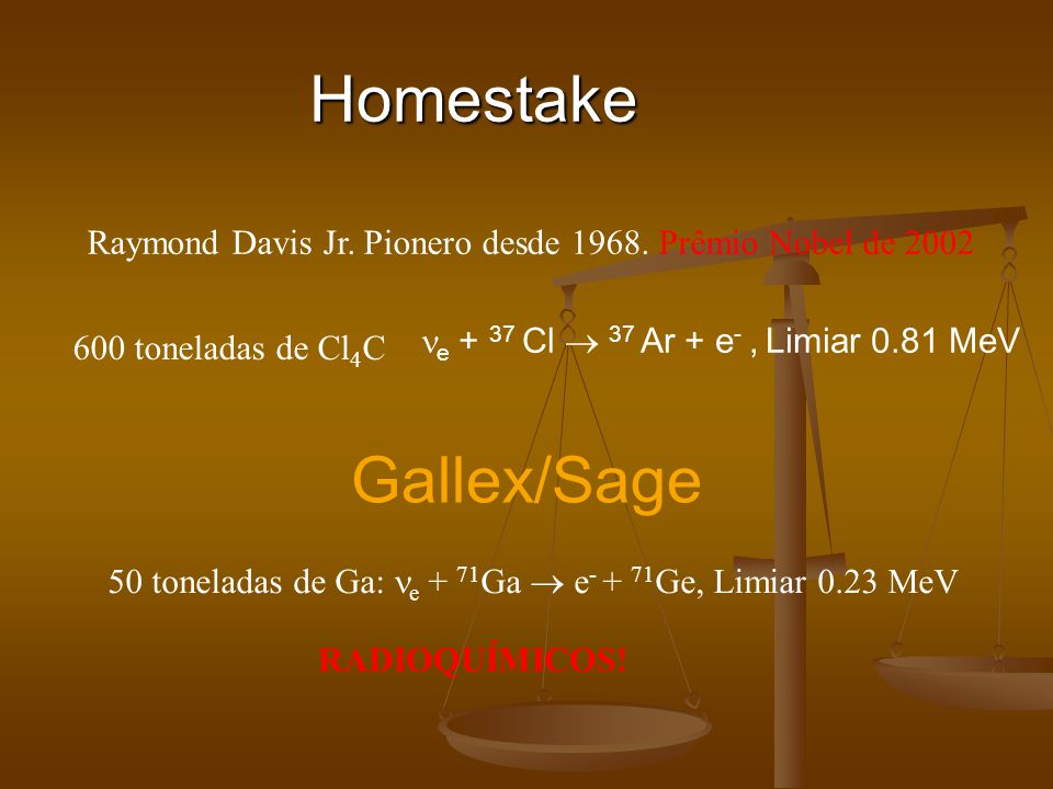 Homestake Gallex/Sage