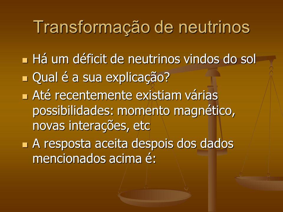 Transformação de neutrinos