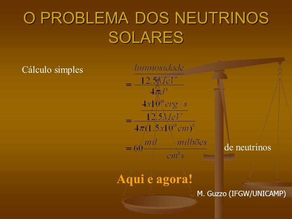 O PROBLEMA DOS NEUTRINOS SOLARES