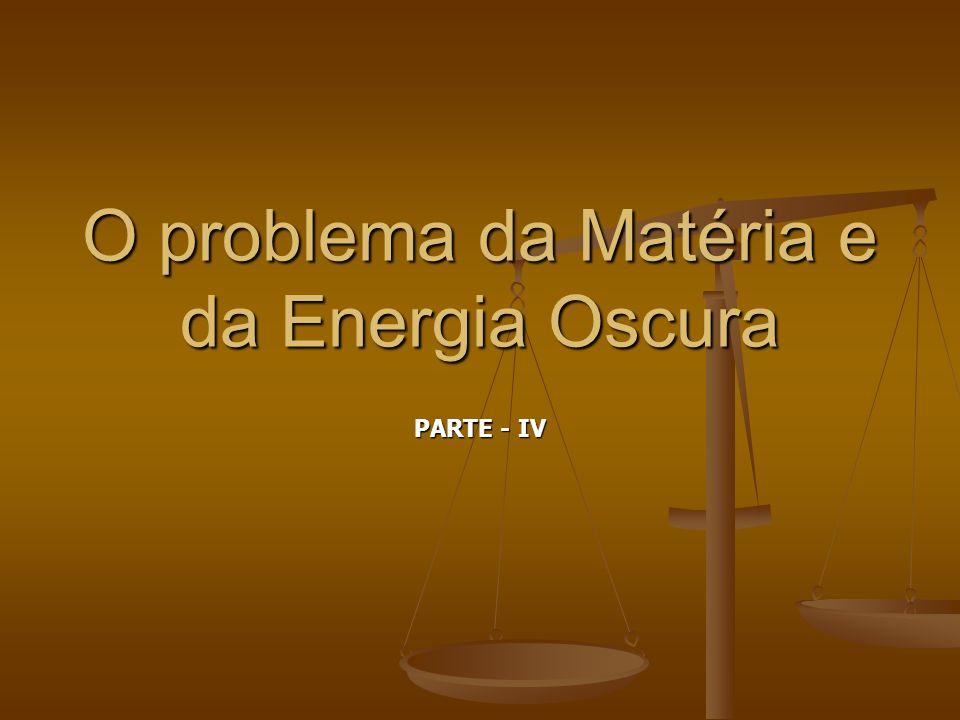 O problema da Matéria e da Energia Oscura