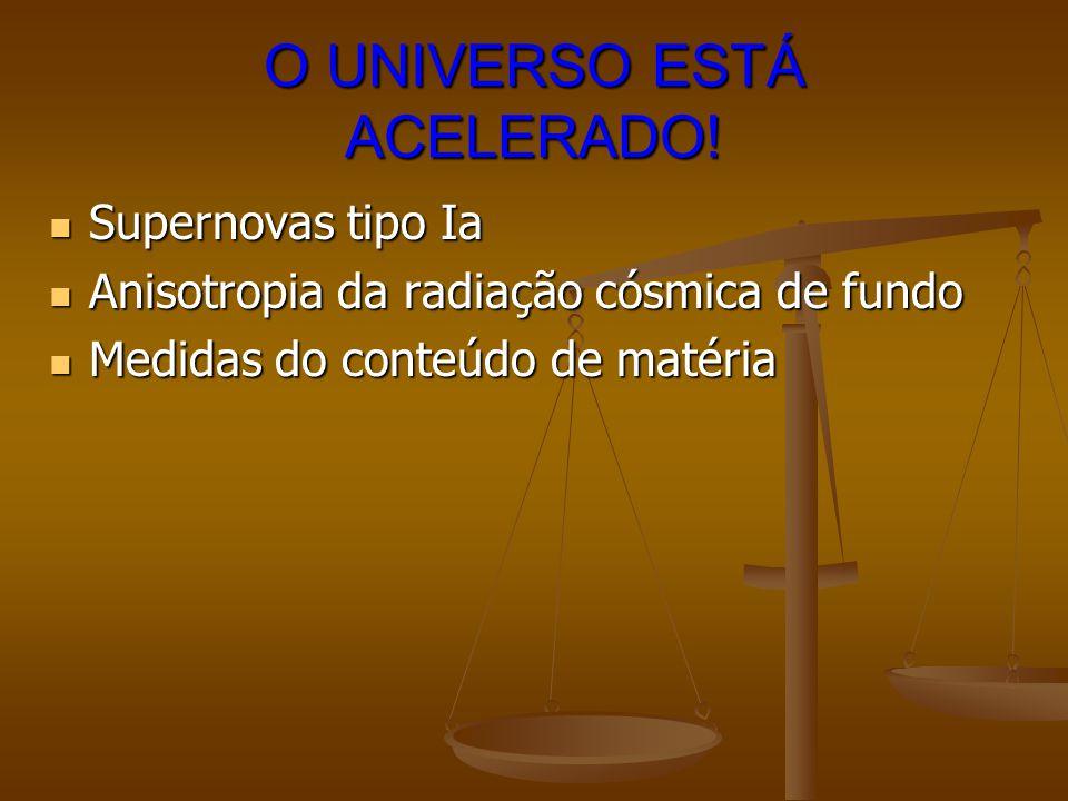 O UNIVERSO ESTÁ ACELERADO!