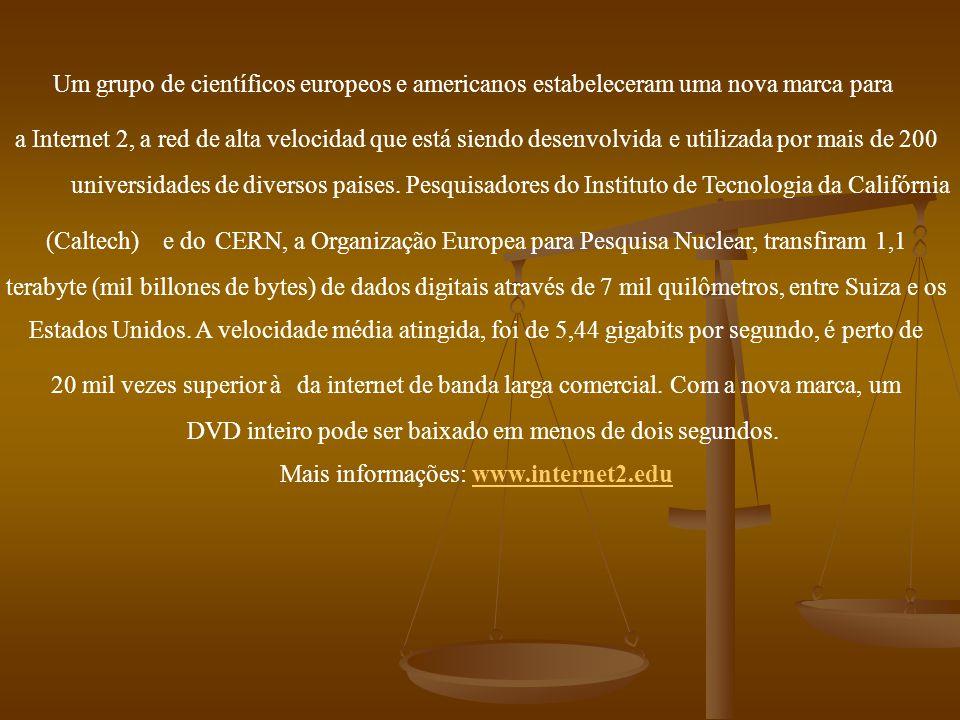 DVD inteiro pode ser baixado em menos de dois segundos.