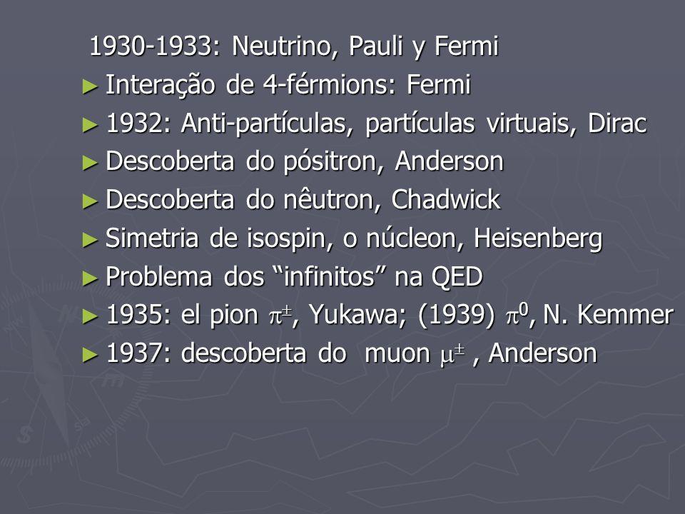 1930-1933: Neutrino, Pauli y Fermi