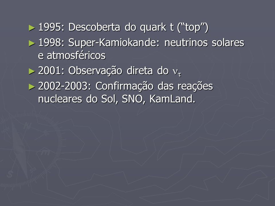 1995: Descoberta do quark t ( top )