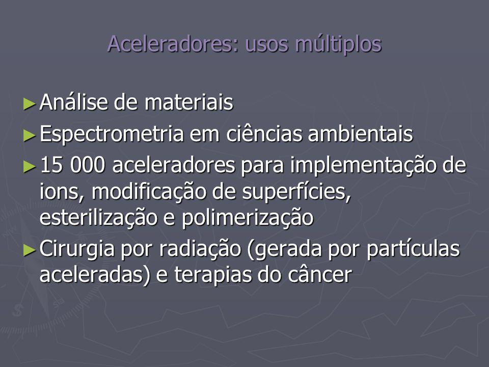 Aceleradores: usos múltiplos