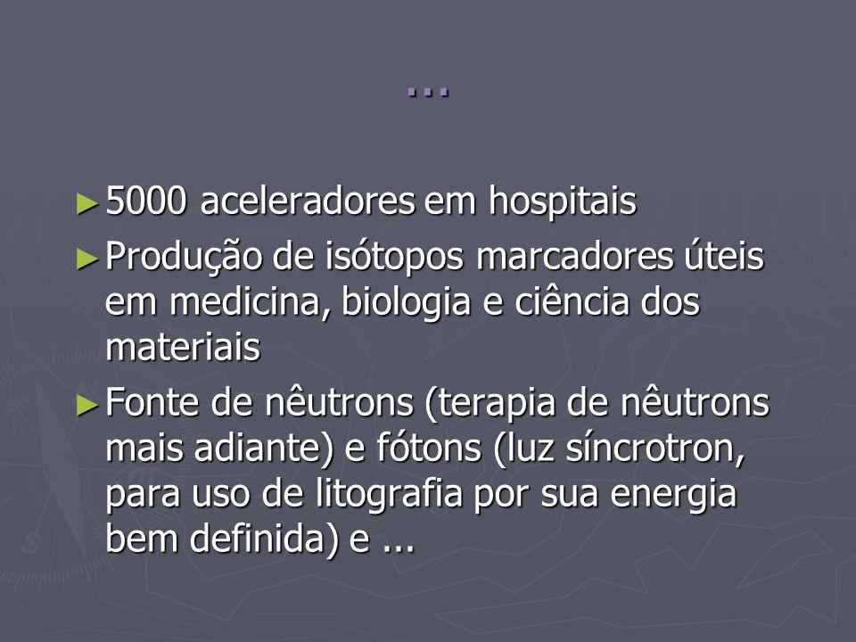 ... 5000 aceleradores em hospitais