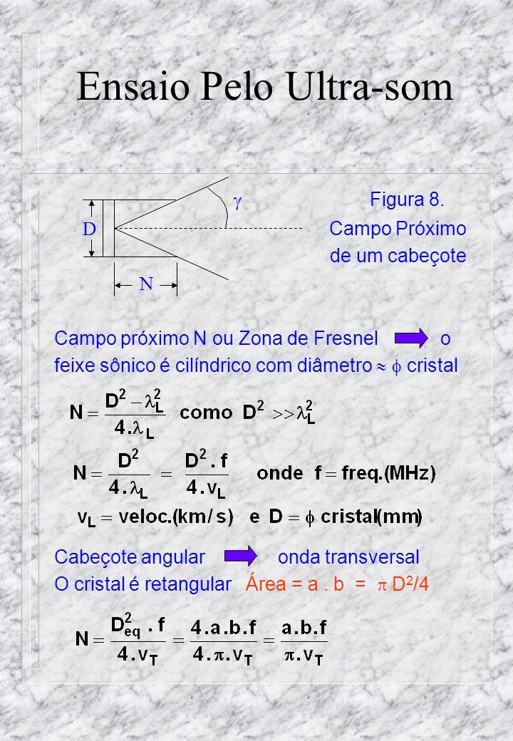 Ensaio Pelo Ultra-som  Figura 8. D Campo Próximo de um cabeçote N