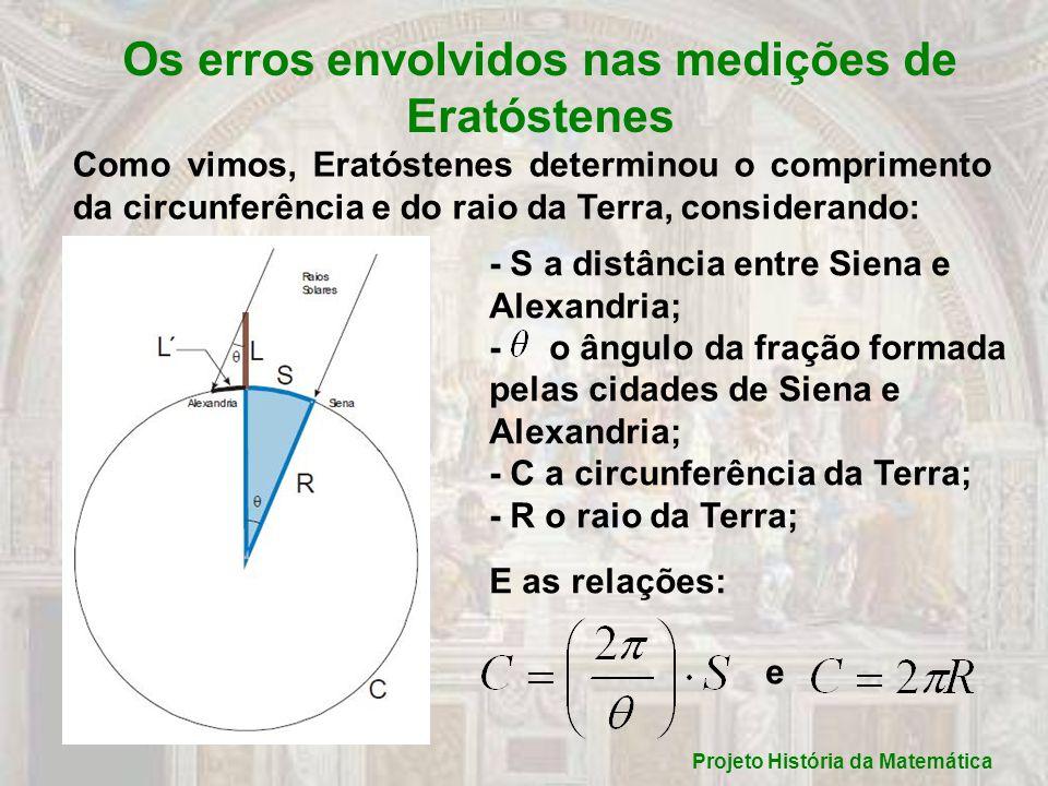 Os erros envolvidos nas medições de Eratóstenes