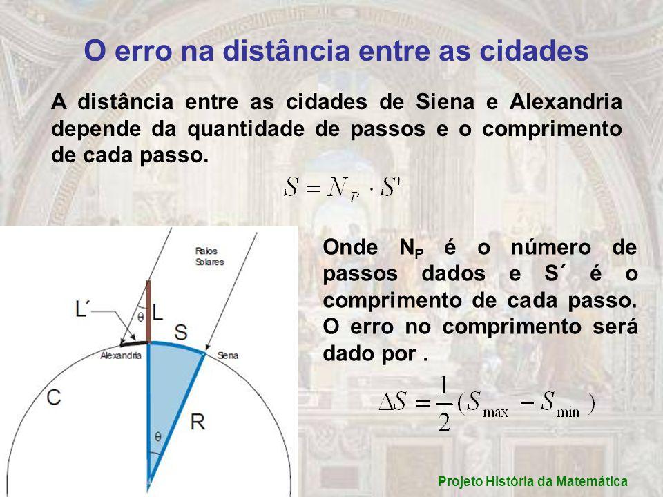 O erro na distância entre as cidades Projeto História da Matemática