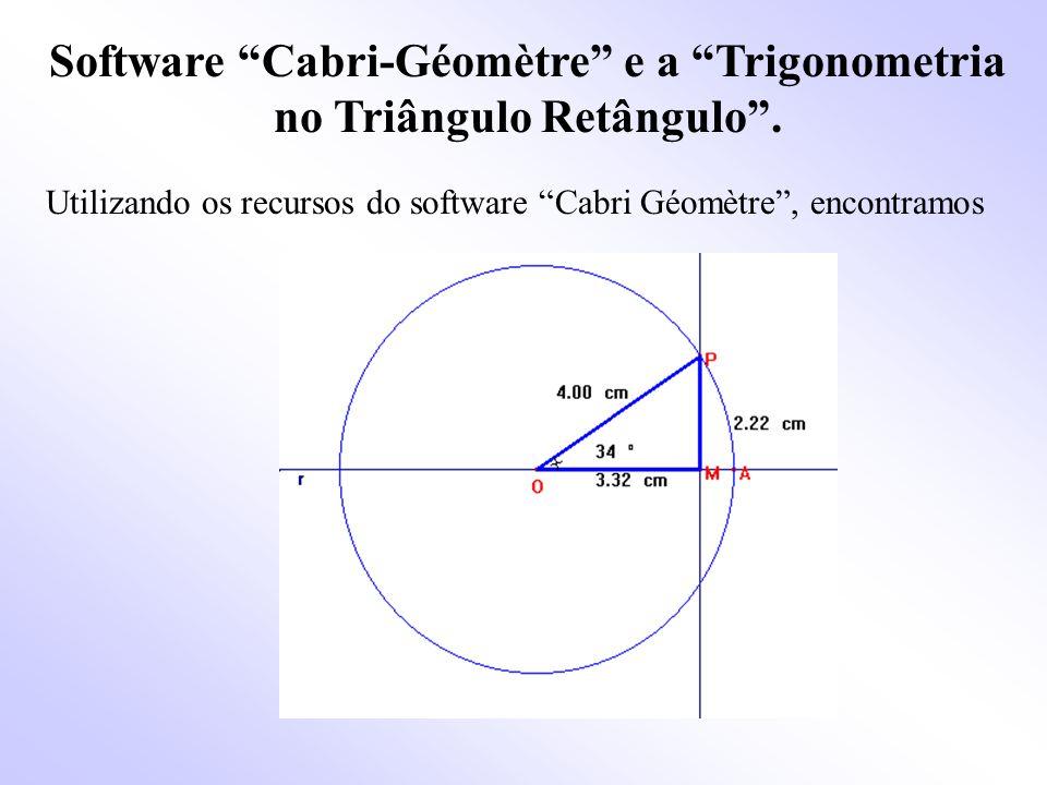 Software Cabri-Géomètre e a Trigonometria no Triângulo Retângulo .