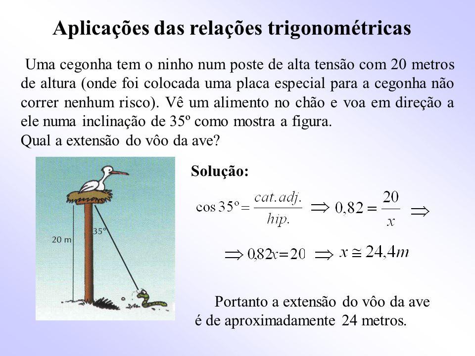 Aplicações das relações trigonométricas