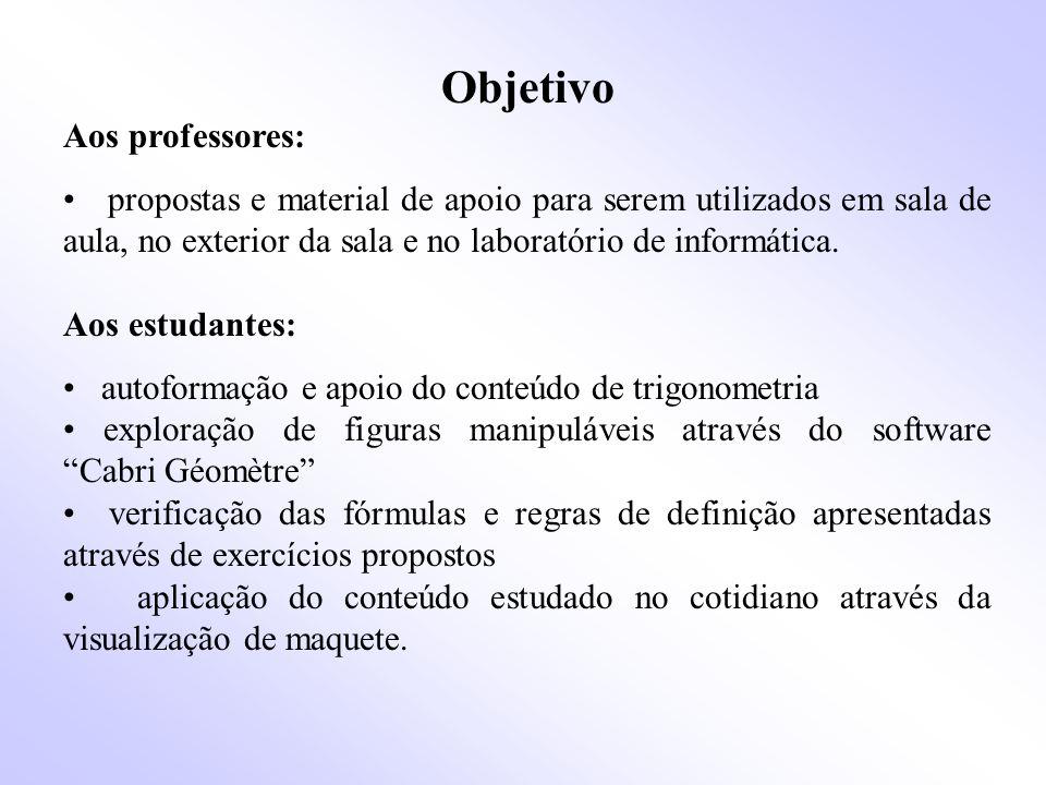 Objetivo Aos professores: