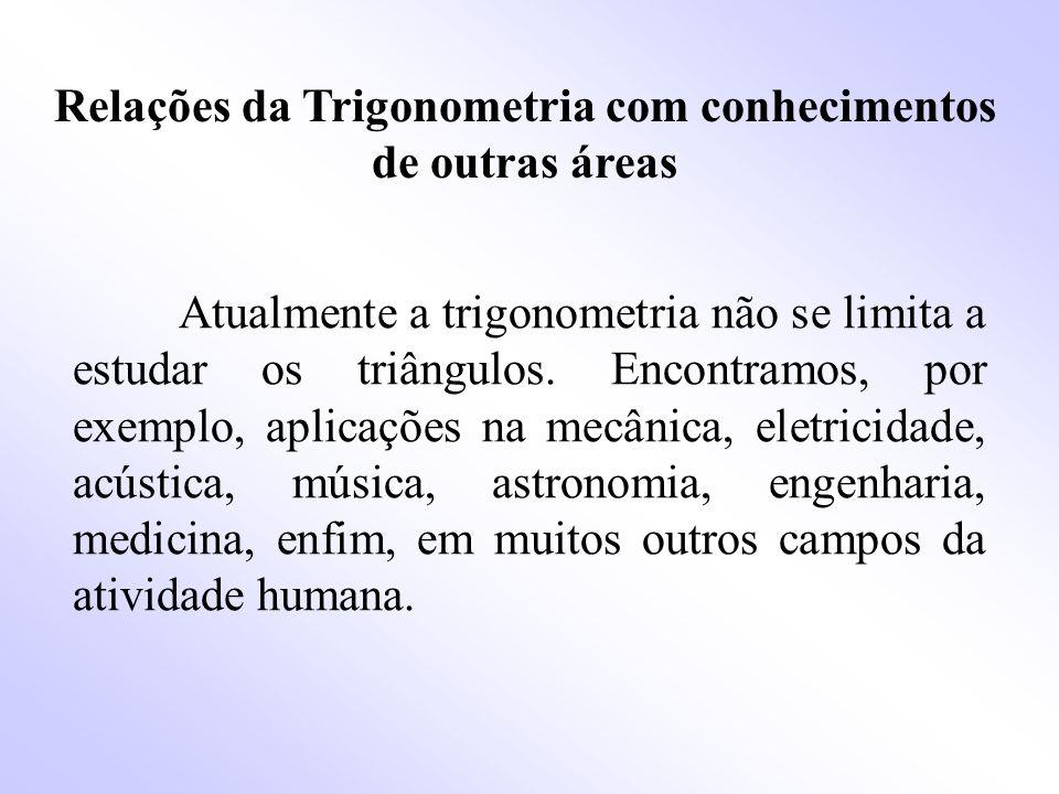 Relações da Trigonometria com conhecimentos de outras áreas