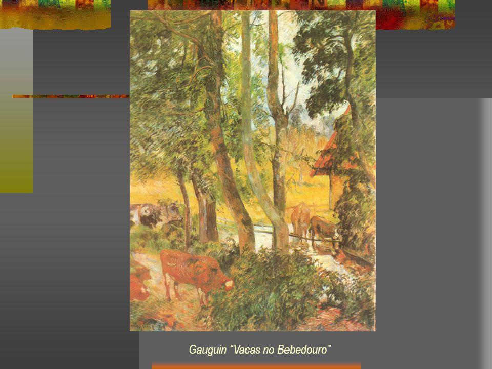 Gauguin Vacas no Bebedouro