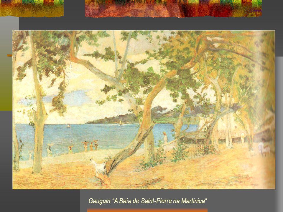 Gauguin A Baía de Saint-Pierre na Martinica